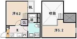 クレアシオン友井[1階]の間取り