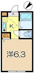 メゾン・ノアール杉田[1階]の間取り