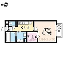 JR東海道・山陽本線 瀬田駅 徒歩6分の賃貸アパート 1階1Kの間取り