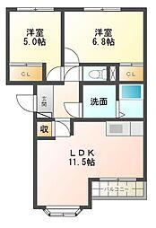 サンコ−ト本郷[2階]の間取り