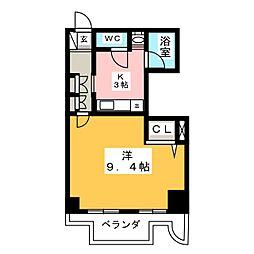 フィーブルサカエ[8階]の間取り