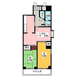 エクレール鶴舞[8階]の間取り