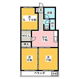 第2岐南ビル[4階]の間取り