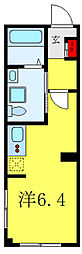 AIR TOWER NIPPORI B棟 4階ワンルームの間取り