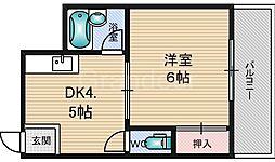 シャルマンしぎの[4階]の間取り