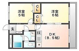 兵庫県小野市本町1丁目の賃貸マンションの間取り