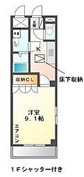 コンフォースハイム[1階]の間取り