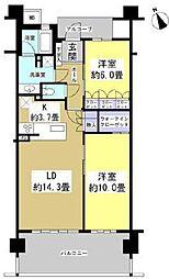 レクセル浜松弁天島[303号室]の間取り