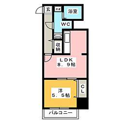 Renge House[8階]の間取り