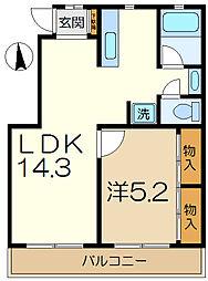アメニティ35[4階]の間取り