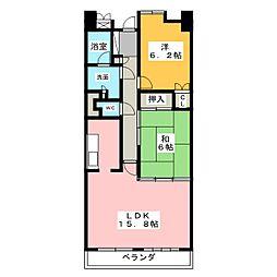 パークシティ上小田井 スカイコ−ト[5階]の間取り