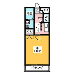 ピアエイト[1階]の間取り