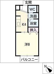 SURPLUS ONE 伊藤[2階]の間取り