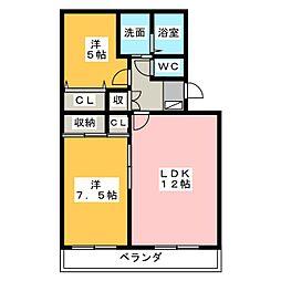 第1スカイハイツ[1階]の間取り