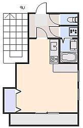 RINGS SHIMOYAMA 4階1Kの間取り