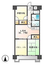 ジュフク松本[9階]の間取り