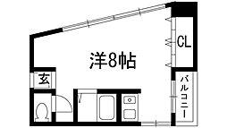 兵庫県伊丹市昆陽池1丁目の賃貸マンションの間取り