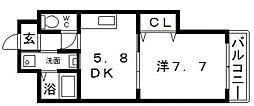 ジュネスガーデン[4階]の間取り