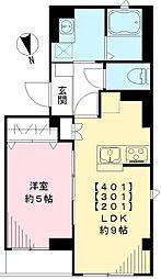 東武東上線 下板橋駅 徒歩7分の賃貸マンション 3階1LDKの間取り