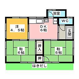 [一戸建] 静岡県焼津市小土 の賃貸【/】の間取り
