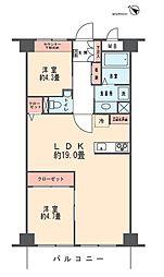 メゾンピア2[2階]の間取り