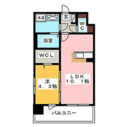 modern palazzo 天神北[2階]の間取り