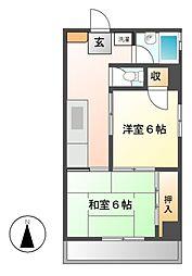 新日本ビル[6階]の間取り