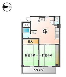 第2沢の井ビル[8階]の間取り
