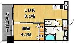 F・PARC平尾[6階]の間取り