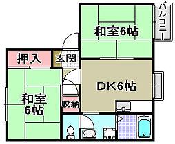 坂の久保ハイツA棟[201号室]の間取り