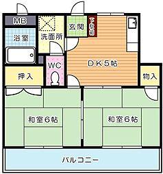 シャトレ穴生II[4階]の間取り