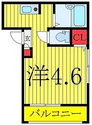 東武東上線 北池袋駅 徒歩2分の賃貸アパート 3階ワンルームの間取り