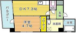 福岡県北九州市小倉南区富士見1の賃貸マンションの間取り