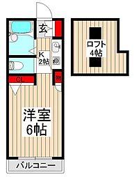 シャルムKI[2階]の間取り