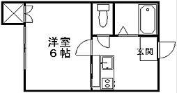 新潟県新潟市中央区鐙1丁目の賃貸アパートの間取り