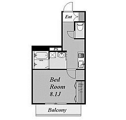 ラフィネ新ゆり[3階]の間取り
