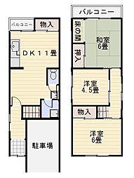 [一戸建] 大阪府堺市中区福田 の賃貸【/】の間取り