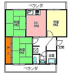 ホープハイツ[2階]の間取り
