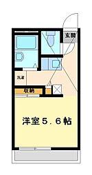 兵庫県姫路市北条の賃貸アパートの間取り