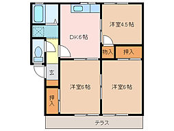 プレジール伊倉 A棟[1階]の間取り