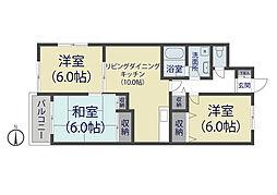 レジデンスソーカ[3階]の間取り