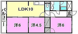 門屋マンション[306 号室号室]の間取り