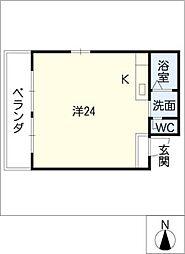 ノイエ・シュトラッセ山木田ビル[6階]の間取り