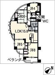 メープルタワー竜美ケ丘901号[9階]の間取り