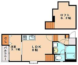 メゾン南福岡[2階]の間取り
