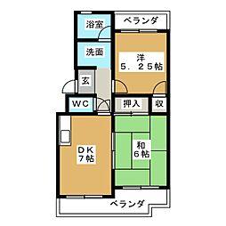 松栄マンション[3階]の間取り