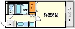シティアーク東淀川[4階]の間取り