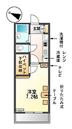 愛知県名古屋市南区南野2丁目の賃貸マンションの間取り