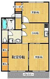 香川県高松市成合町の賃貸アパートの間取り