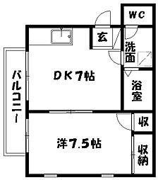 コナビック佐鳴台[2階]の間取り